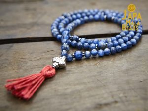 Kyanite and Silver Full Mala