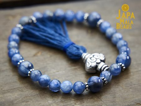 Kyanite and Silver Bracelet Mala