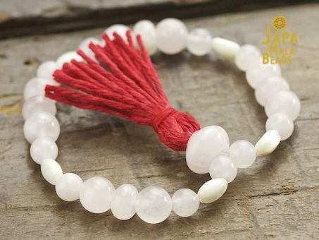 Rose quartz bracelet mala