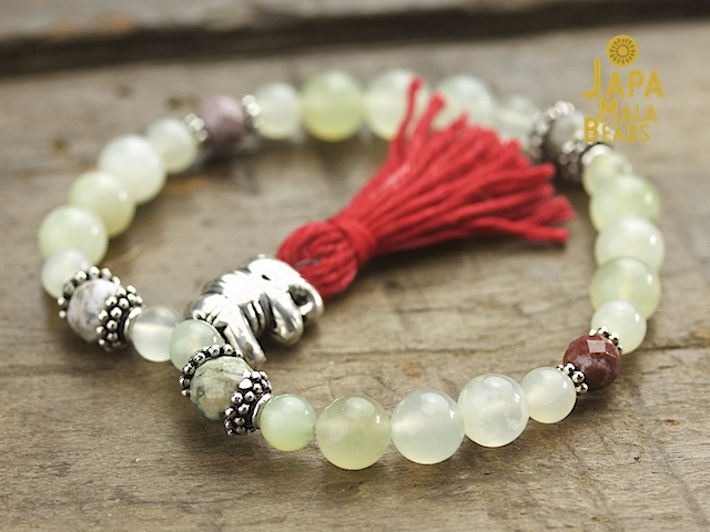 Serpentine and Ocean Jasper Mala