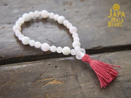 Rose Quartz Bracelet Prayer Beads
