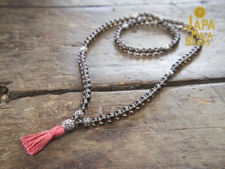 Smoky Quartz Necklace Mala Beads