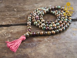 Green Opal & Rosewood Full Mala