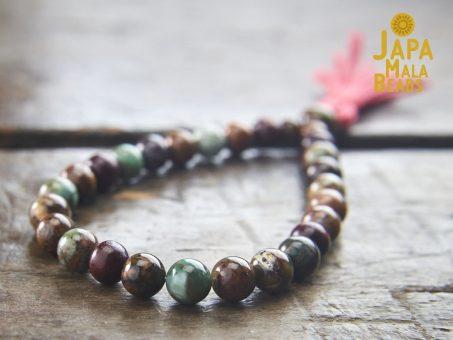 Green Opal & Rosewood Wrist Mala