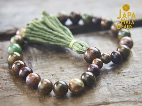 Green Opal & Rosewood Bracelet Mala