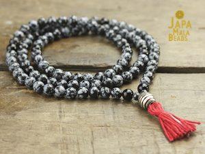 Snowflake Obsidian & Black Onyx Malas