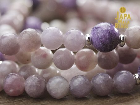 Sugilite and Charoite Full Mala