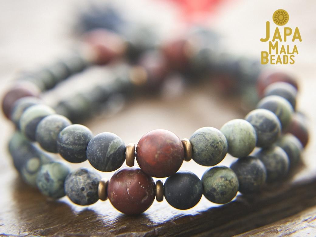 Kambaba Jasper Bracelet \u2022 Handcrafted by Guntan Jewelry