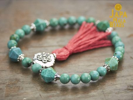 Turquoise and Silver Mala