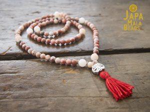 Pink Lepidolite and Aventurine Full Mala