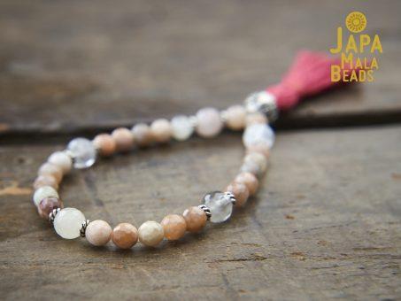 Peach Moonstone Bracelet Mala