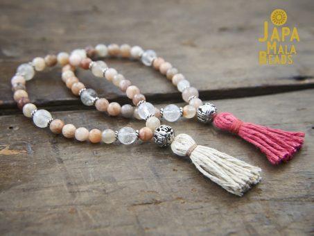 Peach Moonstone Bracelet Malas