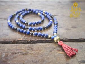Lapis lazuli full necklace mala