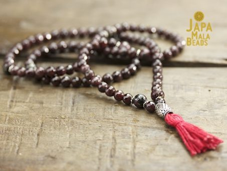 Garnet, Pyrite and Silver Full Mala