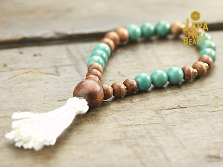 Turquoise and rosewood prayer beads
