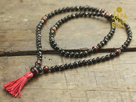 Black Obsidian & Red Tiger Eye Full Mala