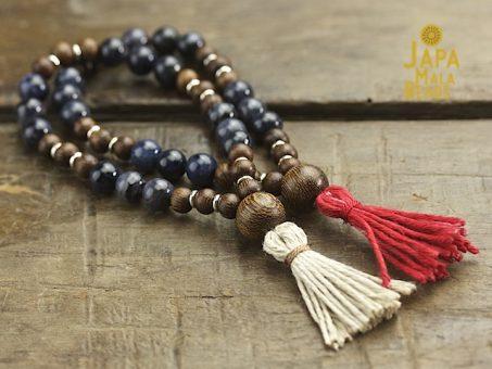 Dumortierite Bracelet Mala Beads