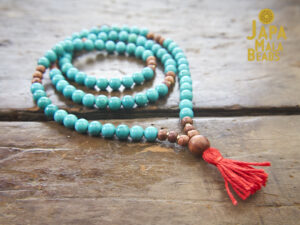 Turquoise and Rosewood Necklace Mala