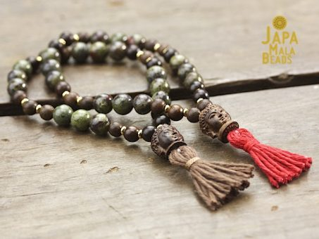 Dragon Blood Jasper and Jujube Mala
