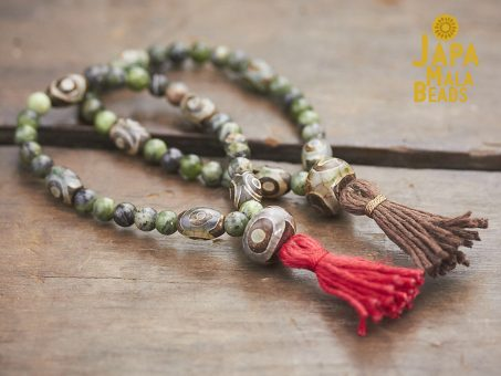 Jade and Dzi Agate Malas