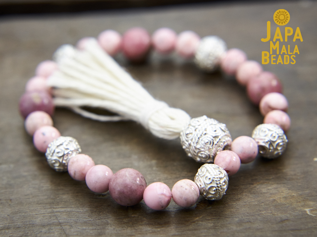 Rhodochrosite and Rhodonite Mala