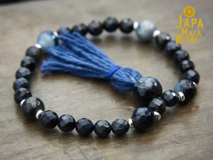 Blue Tiger Eye and Blue Agate Mala