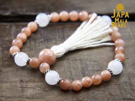 Sunstone and Moonstone Wrist Mala