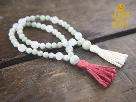 Burmese Jade and Moonstone Wrist Mala