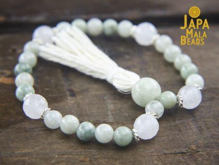 Burmese Jade and Moonstone Wrist Mala