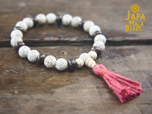 Lotus and Bronzite Wrist Mala