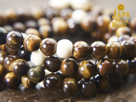 Tiger Eye and Bone Full Mala