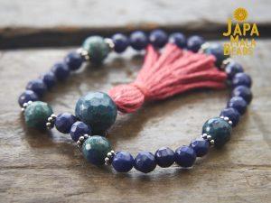 Lapis Lazuli and Azurite-Malachite Wrist Mala