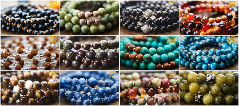 healing gemstone japa mala beads