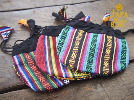 Bhutanese Drawstring Mala Beads Bag