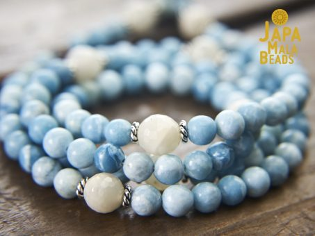 Larimar and Moonstone Full Mala