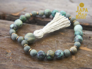 African Turquoise Sandalwood Bracelet Mala