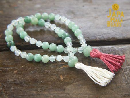 Green Aventurine Fluorite bracelet malas