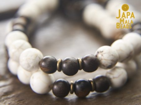 Magnesite and Ebony beads