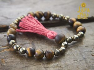 Tiger Eye and Pyrite Bracelet Mala