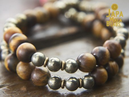Tiger Eye and Pyrite Mala 4