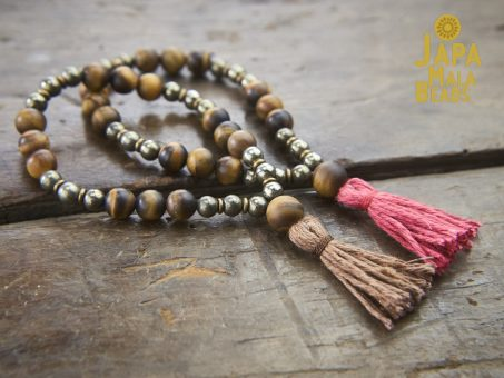 Tiger Eye and Pyrite Bracelet Malas