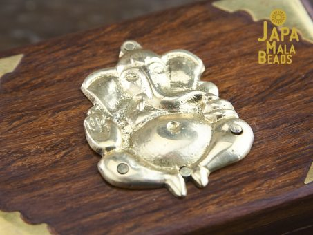 Brass Ganesha Mala Box