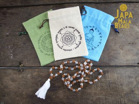 Linen Mantra Mala Bag