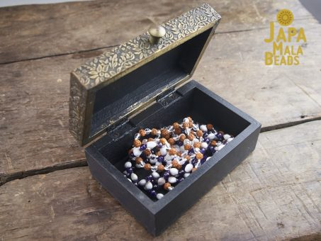 Brass Metal Top Mala Box