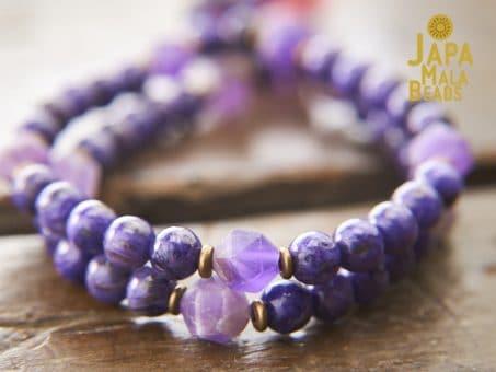 Charoite and Amethyst Prayer Beads