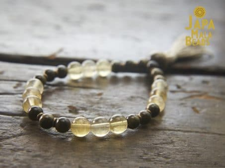 Yellow Fluorite 27 bead Mala