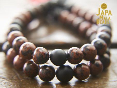 Mahogany Obsidian Bracelet Mala Beads