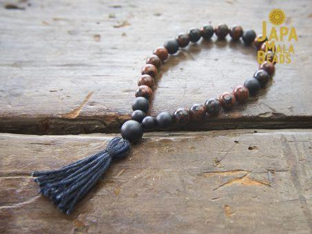 Mahogany Obsidian Hand Mala