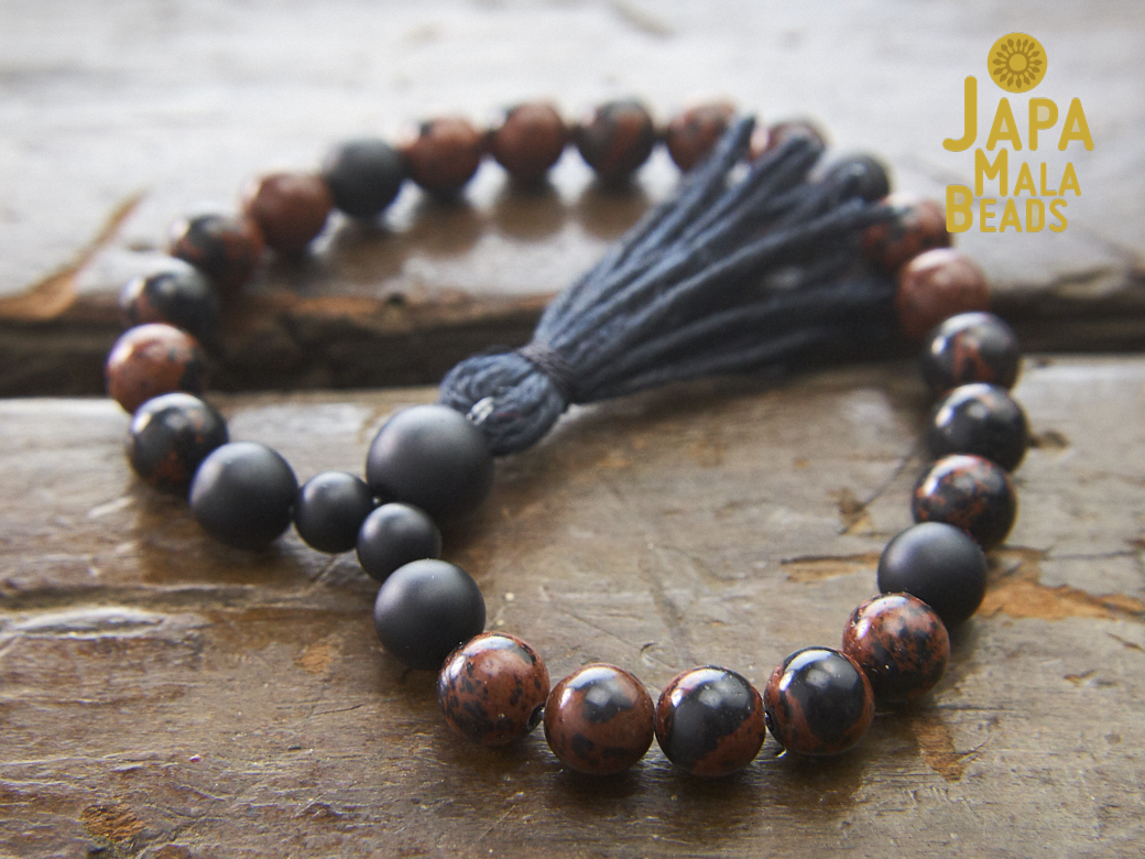 Grounded in Vitality Mala /& Turquoise Nuggets 108 Matte Tiger/'s Eye Matte Onyx