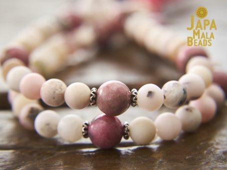 Opal and Rhodonite Bracelet Mala Beads